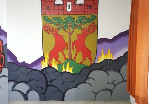 Fassadengestaltung-Feuerwache-Wappen