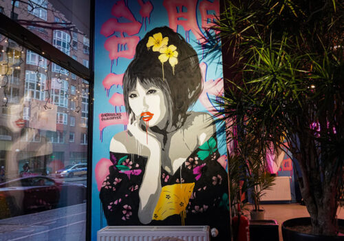 Fassadengestaltung Cafe Kiki Berlin